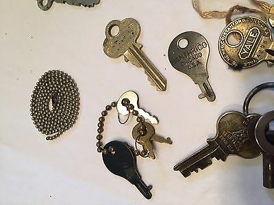 Antique Vtg Key Lot 49pcs Skeleton Barrel Cabinet Door Padlock Box Architectural