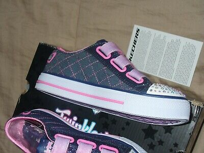 "Skechers Girl's Twinkle Toes Limited Edition Sz1.5 NWB. 10959L/DNPK 9"" IN LENGTH 3"