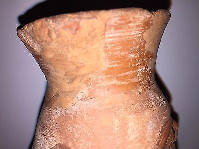Moche, Dignitary red ware vessel (100-800 AD), Peru 4.5 in L 6.5 in H 4.25 in D 11