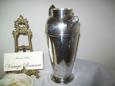 Silver Plated Pitcher Victorian Plate Canada Vintage Coffee Martini Serve Vase 9