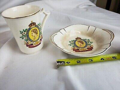 Queen Elizabeth ll Coronation Mug and Bowl 1953 11