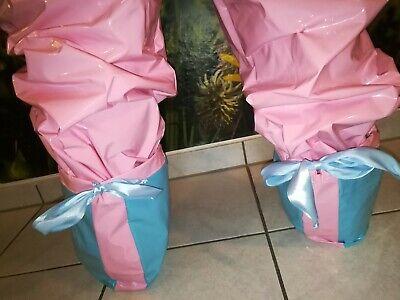 Adult Baby Strampler Overall Catsuit LACK PVC SCHLAFANZUG GUMMI SCHUHE GR.XL 6