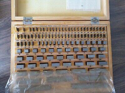 Precision Metric Gauge Block (112 pcs) Class 1 Top Grade ! Endmass Satz USSR! 5
