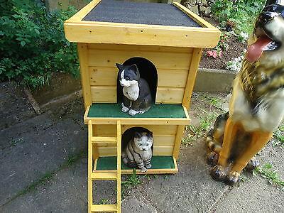 Katzenhütte, Katzenklappe, Katzenhaus, Haustierbedarf,Katzen ,Betten Wetterfest 2