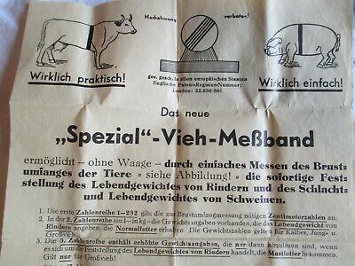 Bauern Messinstrument Vieh-Meßband aus Österreich. ca. 1950 Fa. Schaffhauser 2