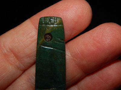 Pre-Columbian Avian Pendant, Green Jade, Authentic 4