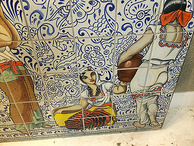 Early 20th Century Spanish Revival Tile Mural Extremely Important and Very Large