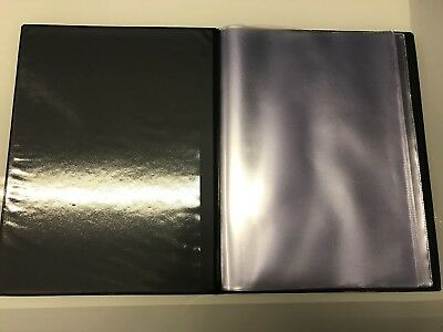 Guest Information Guide Pvc Folder 7 A4 Double Pockets Ref Black/Gold 7