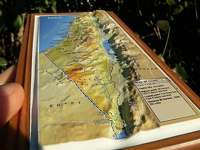 Large 3d Magnet Map Of Israel Topographic English Holy Bible Land