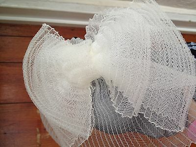Ivory fascinator millinery burlesque wedding hat hair piece ascot race bridal x 4