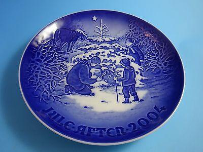 """... 2004 Bing & Grondahl Danish B&G Christmas Plate """"The Christmas Tree"""" 2"""