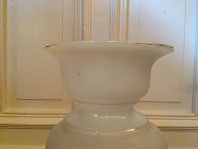 riesige antike Vase Opalglas  Emaillemalerei sehr schönes Teil 19.Jhd ca 33 cm 6
