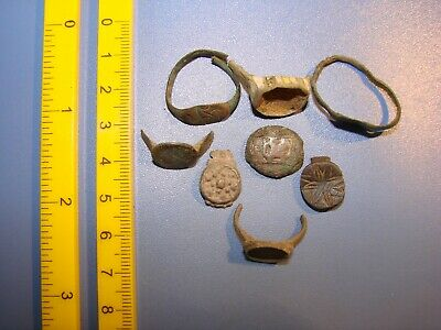 Ancient bronze fragments rings.  Middle Ages. Оriginal. 4