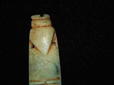 Pre-Columbian Jade Avian Axe God Pendant, Nicoya Costa Rica, Authentic 2