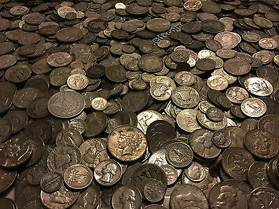 ✯1 Ounce OZ 90% SILVER US COINS $✯OLD ESTATE SALE LOT HOARD✯ BULLION +FREE GOLD✯ 5