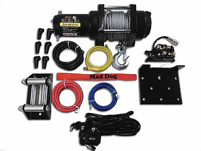 08-2014 RZR 800//800-4 2500lb Mad Dog Winch Mount Combo Polaris 12-2018 RZR 570