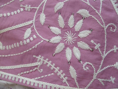 Monsoon Polly Pink White Embroidered Beaded Waistcoat 3 4 5 6 7 8 9 10 11 12 13 2