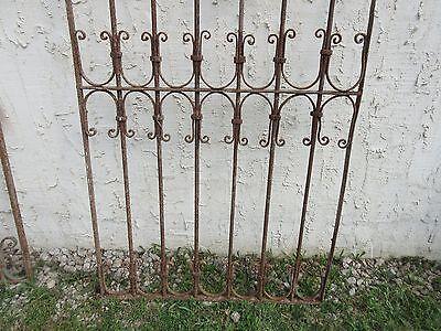 Antique Victorian Iron Gate Window Garden Fence Architectural Salvage Door #682 2