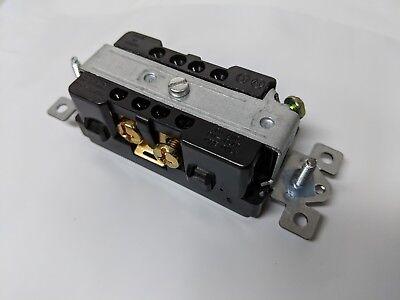 (20 pc) Decorator Duplex 20A Receptacles 20 Amp Decora Outlets Black Commercial 4