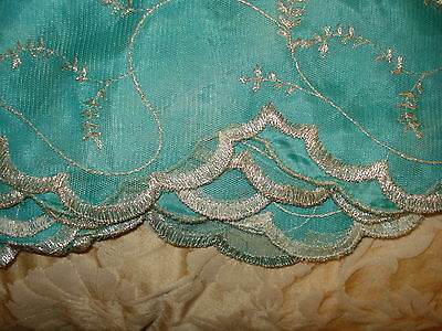 Chinese Net/lace Ladies Indian Saree With Matching Petticoat & Blouse 3