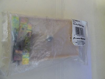 Powerworks Co-AX wall plate (ivory) (nos) 4