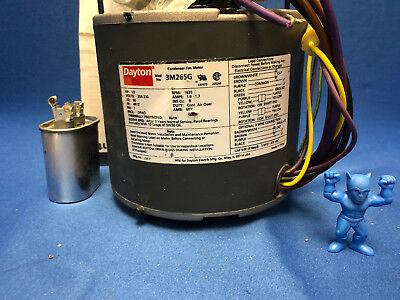 Dayton 3M265G Condenser Fan Motor 1/3 HP, 1625 RPM, 60 Hz, Phase 1 2