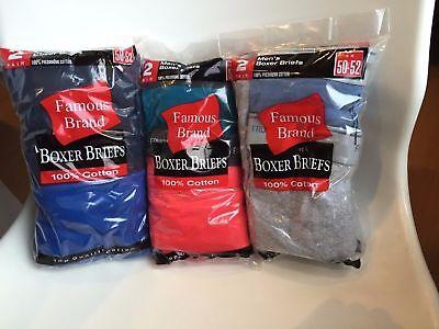 FRUIT OF THE LOOM Men's Boxer Briefs 6-pack SIZES S-3XL Famous Brand Packs 2