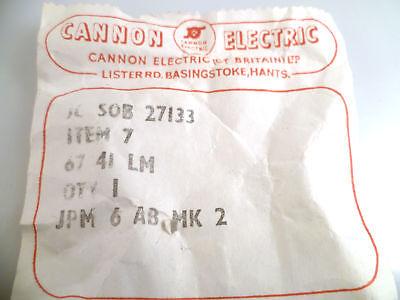 Cannon Electric JPM6AB MK2 Jones 6 Way Plug Vintage OM0256A 4