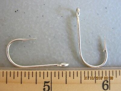 50 Eagle claw size 2 open eye nickel siwash hooks spoons spinners TROUT