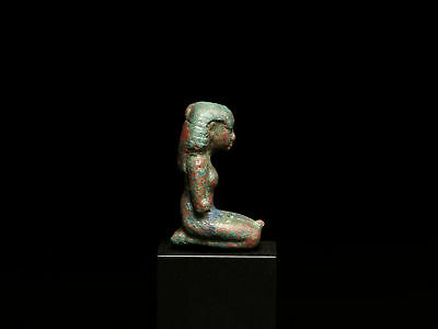 Egyptian Bronze Kneeling Woman 3