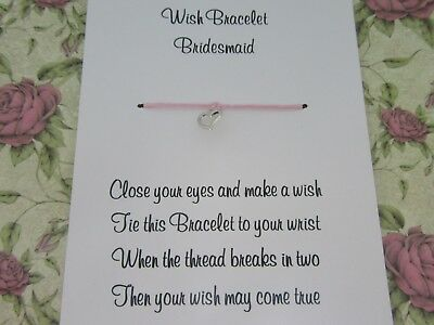 Hen Party Wish Bracelet Message Friendship Gift Pink Anklet Bride Bridesmaid* 4