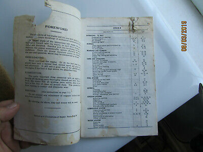 1925 International Harvester 1 1/2 to 6 HP Kero Engine Instruction Manual EK mag 5