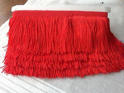 "Tassel Fringe Fringing Trim 8 cm 3.15"" Drop costume  Assorted Colours 1 yd 3"