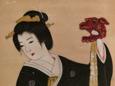 Antique Asian Painting On Silk 2