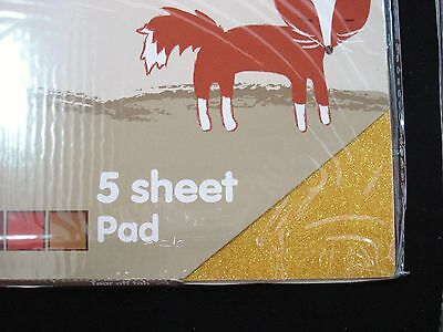 2 Packs Glitter 5 Sheet Pad A4 Paper Craft DIY Project Card Stock FREE POSTAGE