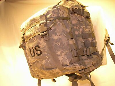 US ARMY ACU ASSAULT PACK 3 DAY MOLLE II BACKPACK w/ Stiffener VGC Made in USA 10