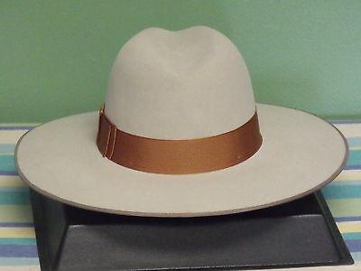 ... Stetson Tri-City Wide Brim Royal Deluxe Fur Felt Fedora Hat 3 b22985dc2b4