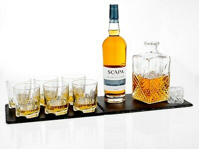 7 Glass Wine Whisky Bormioli Rocco Tumblers Whiskey Bottle Decanter Gift Box 4