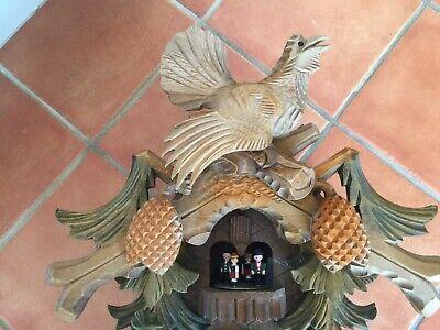 Anton Schneider Soehne Hunter Fox Large Black Forest Rare cuckoo clock 2