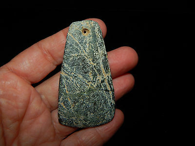 Pre-Columbian Jade Celt Pendant, Beautiful Shape, Authentic, Costa Rica 6