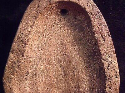 "Antique Pre-Columbian 9 1/4"" Pottery Face Mask 10"