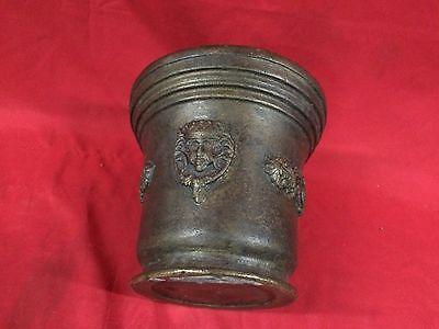 Huge Rare Antique European Bronze Mortar & Pestle Royal Aristrocatic Vase? King 10