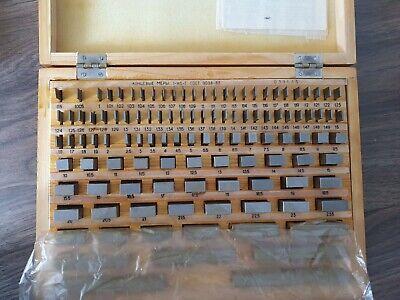 Precision Metric Gauge Block (112 pcs) Class 1 Top Grade ! Endmass Satz USSR! 2