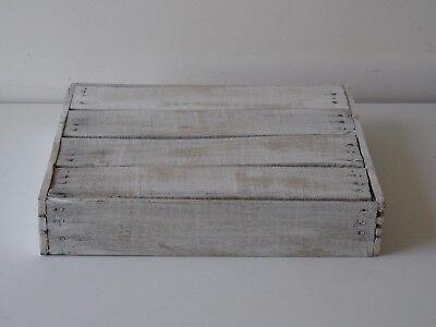 SVUOTATASCHE, VASSOIETTI IN legno bianco decapato, - EUR 17 ...