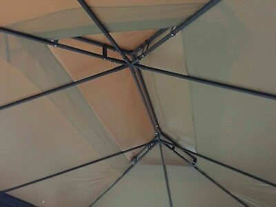 Gazebo 3X4 Giardino In Alluminio Telo Impermeabile Poliestere Pu Con Air Vent 9