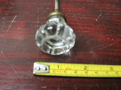 Vintage Original  Polished Glass Pull /knob 1& 3/8  '' X 1& 5/8'' 2