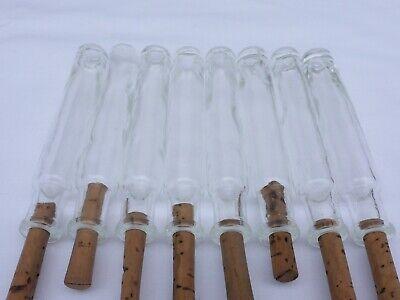 2 x alte kleine Medizin Glas Apotheke Apotheker Flasche klar lang ca. 10,2 cm 8