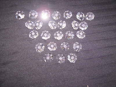 25 CRYSTAL OCTAGONS  CHANDELIER DROPLETS 20mm 2 HOLE 2