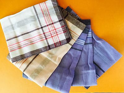 Men Mens HANDKERCHIEFS 100%Pure Cotton Pocket Square Hanky Handkerchief New Bulk 2