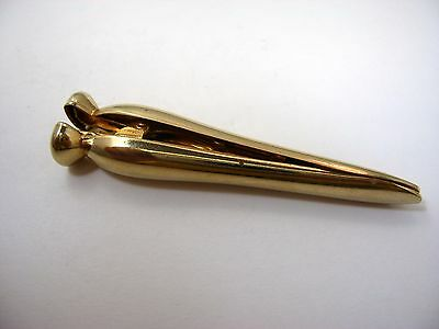 Vintage Gold Tone Clothespin Clip Lovely Design